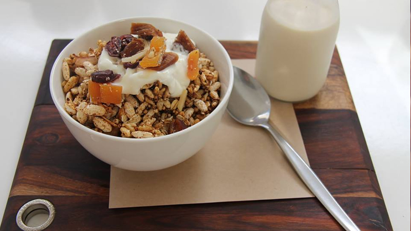 Scrumptious granola with coconut yoghurt from The Canteen, Noosa. Photo: The Canteen Noosa.